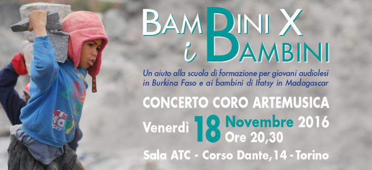Bambini x i Bambini, concerto 18 novembre